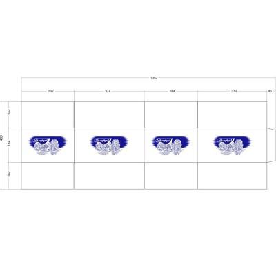 Картонная коробка 370x280x180